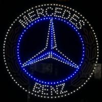 Светящийся логотип Герб Mercedes Benz