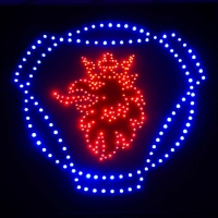 Светящийся логотип картина SCANIA Red+