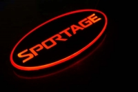 Светящийся логотип KIA Sportage,светящаяся эмблема KIA Sportage,светящийся логотип на авто KIA Sportage,светящийся логотип на автомобиль KIA Sportage,подсветка логотипа KIA Sportage ,2D,3D,4D,5D,6D