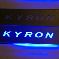 Накладки на пороги с подсветкой SsangYong Kyron