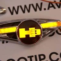 Светодиодный поворотник с логотипом HUMMER H3