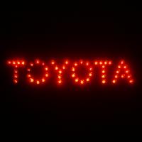 Дополнительный стоп-сигнал Toyota,стоп сигнал надпись Toyota,логотип стоп сигнал Toyota,светодиодный стоп сигнал Toyota,стоп сигнал Toyota на заднее стекла