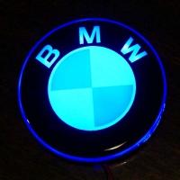 2D светящийся логотип БМВ на мотоцикл 58 мм