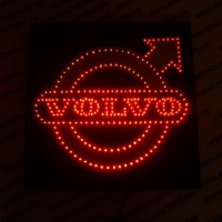 Светящийся логотип для грузовика VOLVO Red