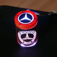 Пепельница с подсветкой 2D логотип Mercedes-Benz