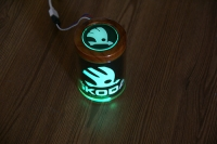 Пепельница с подсветкой логотипа Skoda,автомобильная пепельница с логотипом Skoda,пепельница Skoda,пепельница с подсветкой Skoda,светящаяся пепельница Skoda,пепельница автомобильная с подсветкой Skoda,светящаяся пепельница с логотипом Skoda