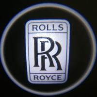 Беспроводная подсветка дверей с логотипом Rolls Royce