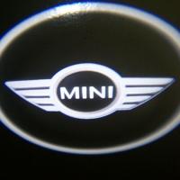 Беспроводная подсветка дверей с логотипом Mini