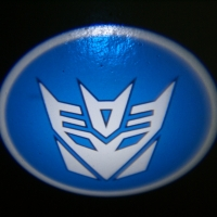 Внешняя подсветка дверей с логотипом Decepticons 5W
