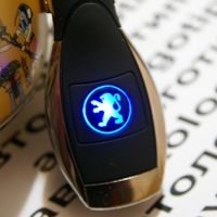 Автомобильное зарядное устройство универсальное с логотипом Peugeot