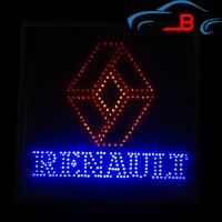 Светящийся зеркальный логотип в грузовик Рено