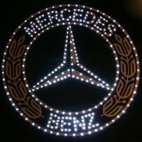 Светящийся логотип-герб для грузовика Mercedes Benz