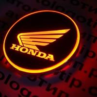Светящийся логотип на мотоцикл Honda
