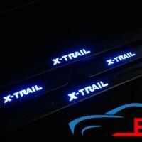 Накладки на пороги с подсветкой NISSAN X_Trail
