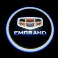 Внешняя подсветка дверей с логотипом Emgrand 5W