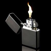 Зажигалка металл черный