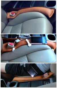 Вставка между сиденьем и боковой консолью,Кожаные вставки между сидений,Вставка между сиденьем и консолью кпп,Декоративная накладка проставка между передним сидением и подлокотником,С вырезом под замок ремня безопасности,Защищает щель от попадания мусора,