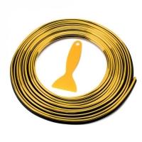 Молдинг лента для отделки салона, золото