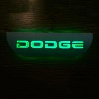 Накладки на пороги с подсветкой Додж (Dodge)