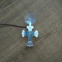 Светящийся крест с 2D гравировкой