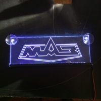 Табличка светящаяся МАЗ с 2D гравировкой