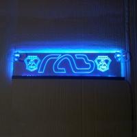 Светящаяся табличка GAZ с 2D гравировкой