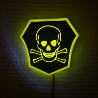 Светящийся логотип Опасно для жизни