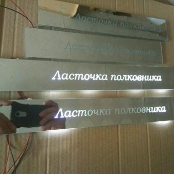 """Зеркальные накладки на пороги ГАЗ Волга """"Ласточка полковника"""""""