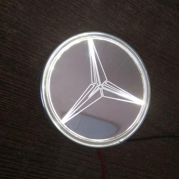 Светящийся зеркальный логотип Мерседес (Mercedes)