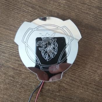 Светящийся логотип SCANIA (СКАНИЯ) зеркальное серебро