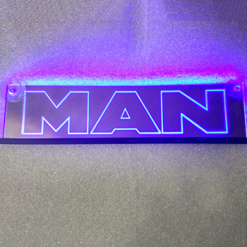 Зеркальная светящаяся табличка MAN 2D
