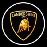 Беспроводная подсветка дверей с логотипом Lamborghini