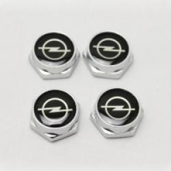 болты номерного знака с логотипом Opel,Декоративный болт для номерного знака с логотипом Opel,Болты для крепления госномера Opel,декоративных болтов на номерные знаки логотипом Opel купить,заказать,доставка