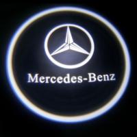 Беспроводная подсветка дверей с логотипом Mercedes