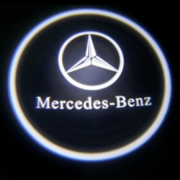 Внешняя подсветка дверей с логотипом Mercedes 5W