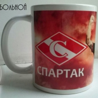 Кружка с логотипом СПАРТАК