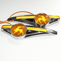 Светодиодный поворотник с логотипом GAZ