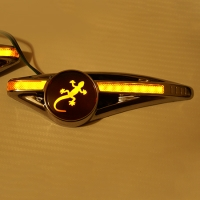 Светодиодный поворотник с логотипом Ящерица