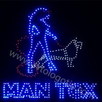 Светящийся логотип для грузовика MAN TGX