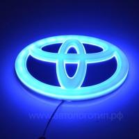 4D светящийся логотип TOYOTA 12*8 см