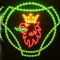 Светящийся логотип картина SCANIA