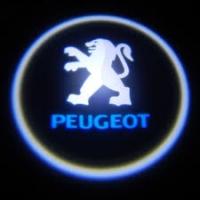 Беспроводная подсветка дверей с логотипом Peugeot