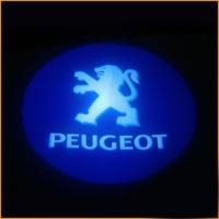 Внешняя подсветка дверей с логотипом Peugeot 7W