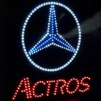 Светящийся логотип для грузовика MERCEDES