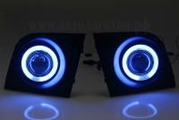 Противотуманные фары с ангельскими глазками CHEVROLET AVEO (T200),Универсальные противотуманные фары CHEVROLET AVEO (T200),туманки с линзой и ангельскими глазками CHEVROLET AVEO (T200),противотуманки с ангельскими глазкам CHEVROLET AVEO (T200)