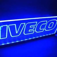 Светящийся логотип Iveco 2D,светящийся логотип для грузовика Iveco 2D,светящаяся эмблема Iveco 2D,табличка Iveco 2D,картина Iveco 2D,логотип на стекло Iveco 2D,светящаяся картина Iveco 2D,светодиодный логотип Iveco 2D,Truck Led Logo Iveco 2D,12v,24v