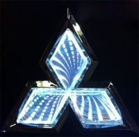 3D светящийся логотип Mitsubishi