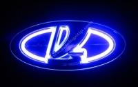 Светящийся логотип LADA,светящаяся эмблема LADA,светящийся логотип на авто LADA,светящийся логотип на автомобиль LADA,подсветка логотипа LADA,2D,3D,4D,5D,6D