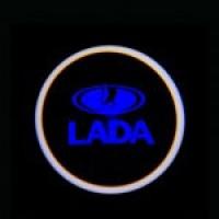 Беспроводная подсветка дверей с логотипом VAZ