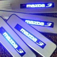 Накладки на пороги с подсветкой Mazda3 2014